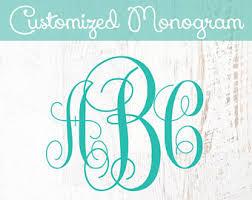 create monogram initials custom monogram etsy