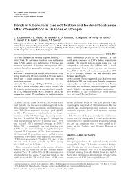 bureau avec ag e int r trends in tuberculosis notification pdf available