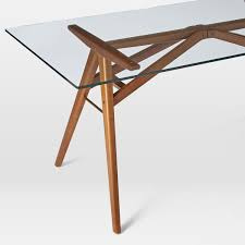 Jensen Dining Table West Elm AU - Glass top dining table adelaide