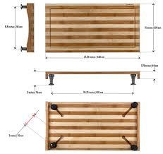 bamboo cutting board w adjustable legs prosumer u0027s choice