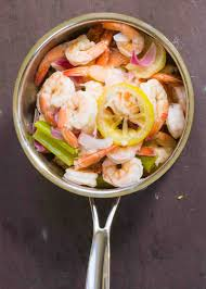 martini shrimp pickled shrimp recipe simplyrecipes com