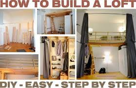 Building A Loft Bed With Storage by How To Build A Loft Diy Step By Step With Pictures