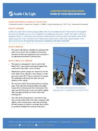 Seattle City Light Power Outage Map by March 2017 Pole Replacement Fliers Reliability Engineering