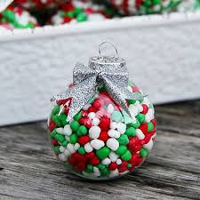 candy ornaments 25 ways to fill a christmas ornament the idea room