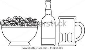 line drawing illustration beer bottle beer stock illustration