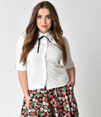 tie front blouse plus size white black tie front lori button up blouse