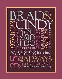 35 wedding anniversary gift happy 35 wedding anniversary to my parents subway has the