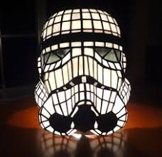 Imperial Home Decor Stormtrooper Helmet Table Lamp Stained Glass Star Wars