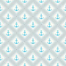seamless vector pattern of anchor shape and line endless texture