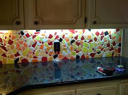 Espresso Brown Dark Kichen Cabinets White Countertop Gray Mosaic - Mosaic backsplash tile