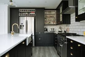black shaker style kitchen cabinets china easy top solid wood furniture black shaker modern