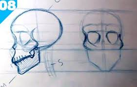 how to draw a skull step by step guide for beginners