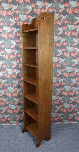 Narrow Wooden Bookcase by Very Tall Arts U0026 Crafts Narrow Oak Bookcase C1910 Antiques Atlas