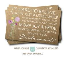 Ask Bridesmaids Cards The 25 Best Rustic Bridesmaids Gifts Ideas On Pinterest