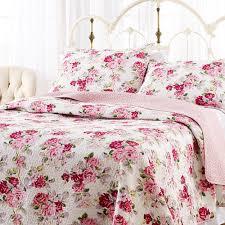Indie Bedspreads Amazon Com Laura Ashley Lidia Cotton Quilt Set King Home U0026 Kitchen