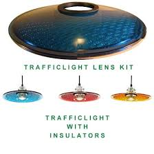 glass insulator light kit traffic light lens hood kit 12 railroadware