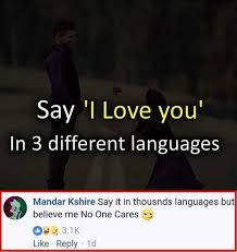 Different Languages Meme - dopl3r com memes say i love you in 3 different languages