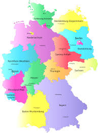State Capitals Map German States And State Capitals Map At Map O Germany