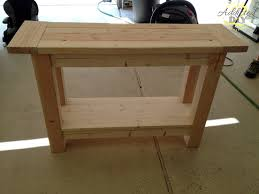 kitchen island table plans pottery barn inspired console table console tables consoles and