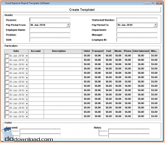 Excel Template Expense Report Weekly Expense Report For Excel