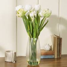 artificial floral arrangements nearly natural tulip with vase silk floral arrangements reviews
