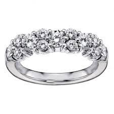 white garland 14k white gold 2ct tdw brilliant cut garland diamond wedding band
