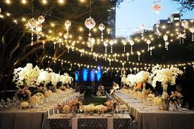 wedding decoration ideas outdoor wedding lights decorations with