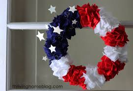 4th of july wreaths make your own fourth of july wreath thriving home
