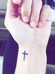 50 cross wrist tattoos