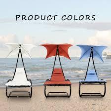 Outdoor Chaise Lounge Furniture Orange Ikayaa Rocking Outdoor Patio Chaise Lounge Chair Lovdock Com