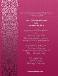 christian wedding invitation wording christian wedding invitation wording sles wordings and messages