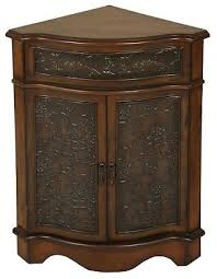 Cabinet Accents Walnut Corner Cabinet Traditional Accent Chests And Cabinets