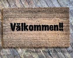 välkommen it u0027s swedish for welcome doormat damn good doormats