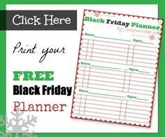 carnival cruise black friday deals free printable black friday shopping planner christmas