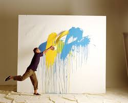 is it okay to use house paint for art