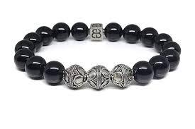 bead bracelet mens images Black obsidian bracelet men 39 s obsidian bracelet jpg