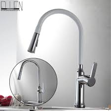 online get cheap white kitchen faucet pull out aliexpress com