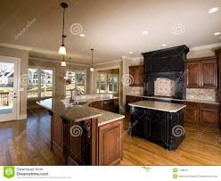 kitchen with center island luxury center island kitchen with view stock photo image 7198210