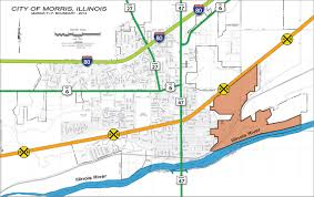 Illinois City Map by Develop Morris Illinois Tif District