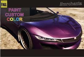 paint your custom color gta5 mods com