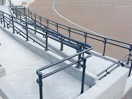 How To Put Up A Handrail Pipe Railing Build A Railing With Galvanized Pipe U0026 Fittings