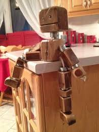 Kids Wood Crafts - diy wooden robot buddy easy project for kids wooden toys