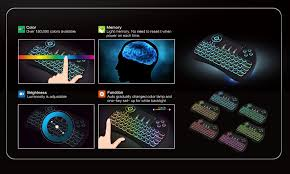 light up wireless keyboard h9 wireless keyboard with touchpad