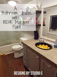 Interior Paint Prep An Update To A Dated Bathroom With Behr Marquee U2013 Designs By Studio C