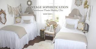 Shabby Chic White Comforter Neutral Coordinated Dorm Bedding And Dorm Decor Shabby Chic Dorm