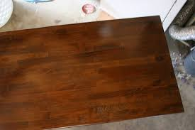 rocky bella butcher block counter i used waterlox original satin to protect it i almost broke down and used a regular old oil finish from home depot but decided i should do it right