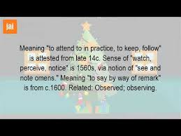 what does it to observe