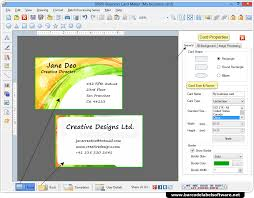 business card maker software designs business cards in various shapes