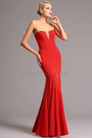 strapless v cut neck red prom dress formal dress 00161102