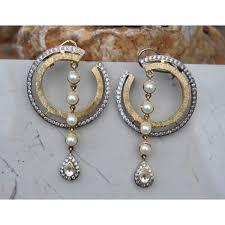 designer earrings two tone sterling silver designer earrings